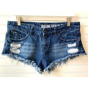 • volcom denim shorts •